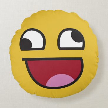 whatever. emoji round pillow