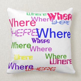 Where Pillow - Decorative Accent Throw Pillow 3 mojo_throwpillow