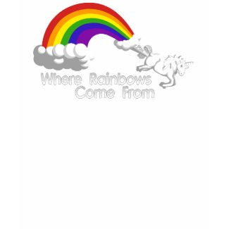 Where rainbows come from t-shirts shirt