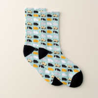 Whimsical Cats Pattern Socks