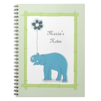 Whimsical Elephant Notebook notebook