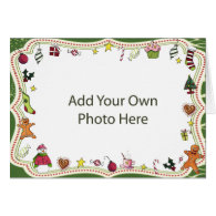 Whimsical Holiday Photo Frame Cards