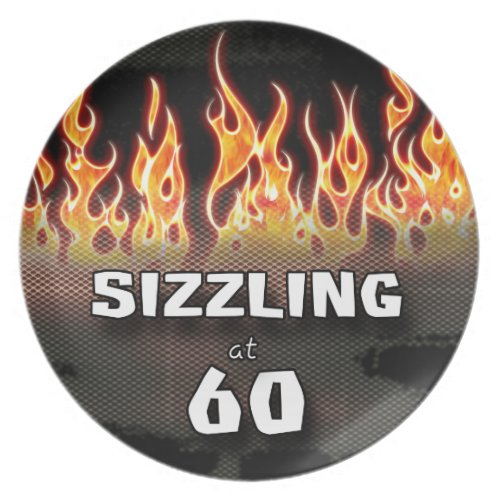 Whimsical Sizzling At Sixty Memorabilia Plate