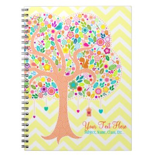 Whimsical Tree - Custom Spiral Notebook