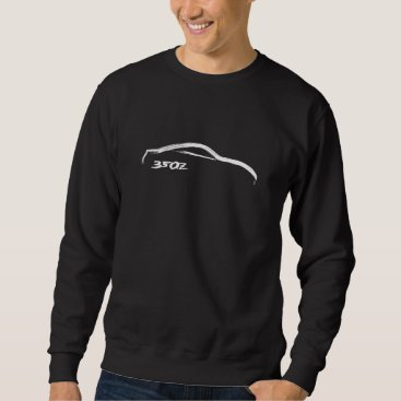 White 350z Brush Stroke Sweater
