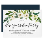 White Blooming Flowers New Years Eve Party Invitation