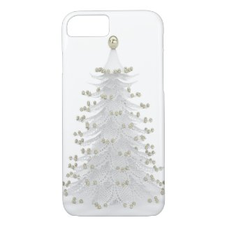 White Christmas Tree Holiday iPhone Case