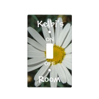 White Daisy Light Switch Cover