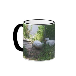 White Ducks on a Ramp Mug mug
