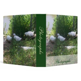 White Ducks on a Ramp Photo Binder binder