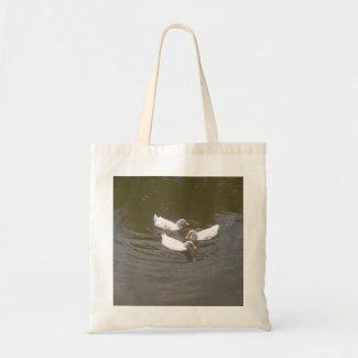 White Ducks Swimming Bag bag
