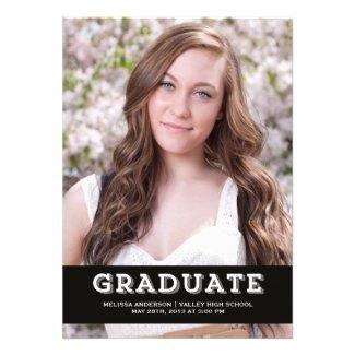 White Graduate Senior Portrait