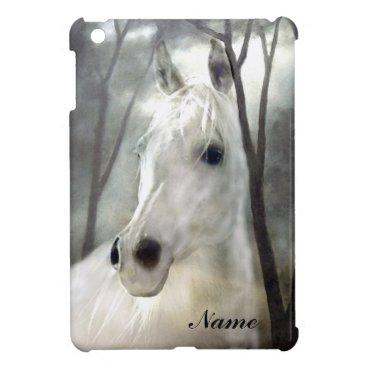 White Horse iPad Mini Cover