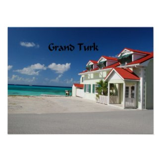 White House on Grand Turk Poster