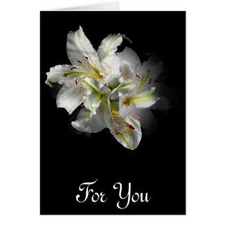 White Lilies Fantasy card