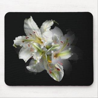 White Lilies Fantasy Mousepads