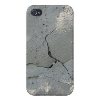 White paint crack iPhone 4 case