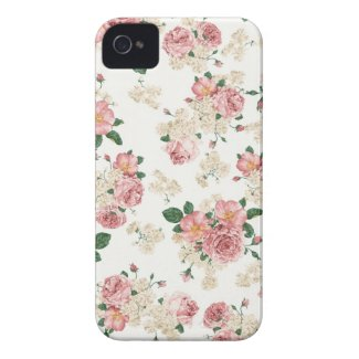 White & Pink Vintage Floral iPhone 4/4S Case iPhone 4 Case-Mate Cases