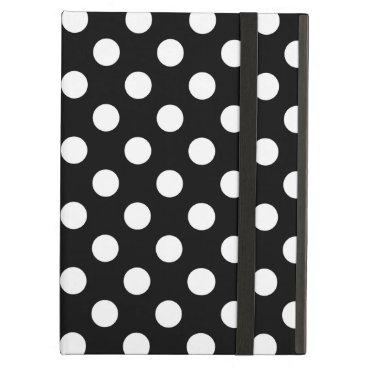 White polka dots on black iPad air case