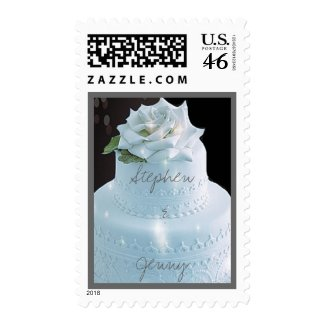 White Rose Wedding Cake Postage