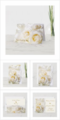 White Roses Wedding Set