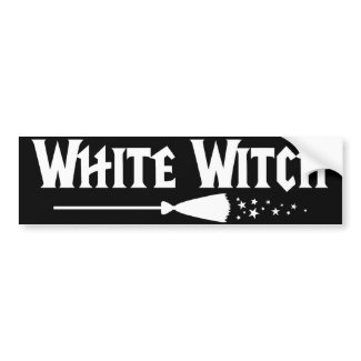 White Witch bumpersticker