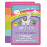 ❤️ Whole Llama Fun Birthday Party Invitations Alpaca