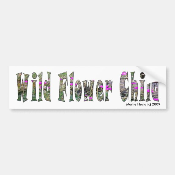 Wild Flower Child - Bumper Sticker
