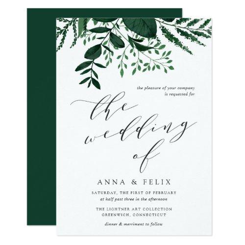 Wild Forest Botanical Wedding Invitation