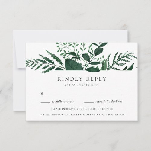 Wild Forest Meal Choice RSVP Card