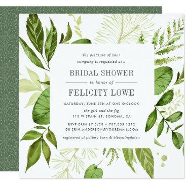 Wild Meadow Bridal Shower Invitation | Square