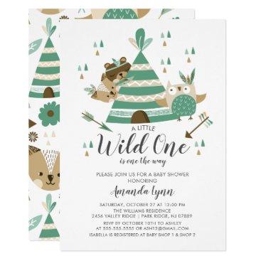 Wild One Baby Shower Invitation