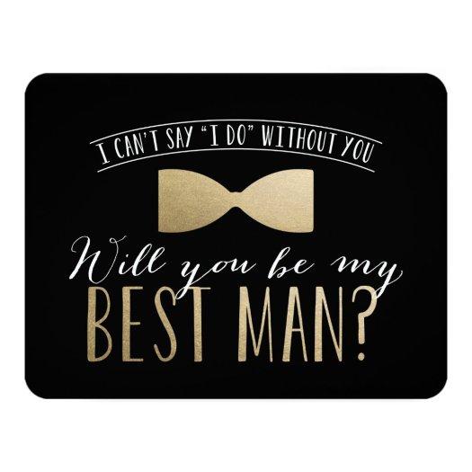 Will you be my Best Man? | Groomsmen Invitation