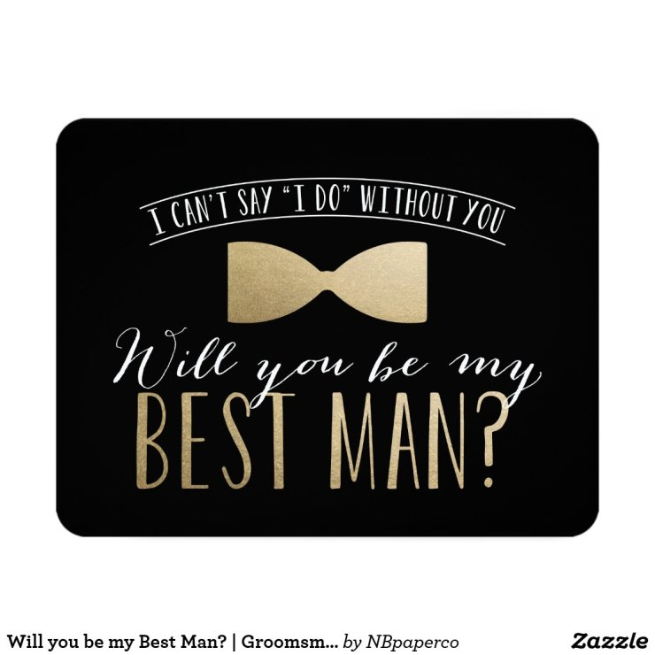 Will you be my Best Man? | Groomsmen Invitation