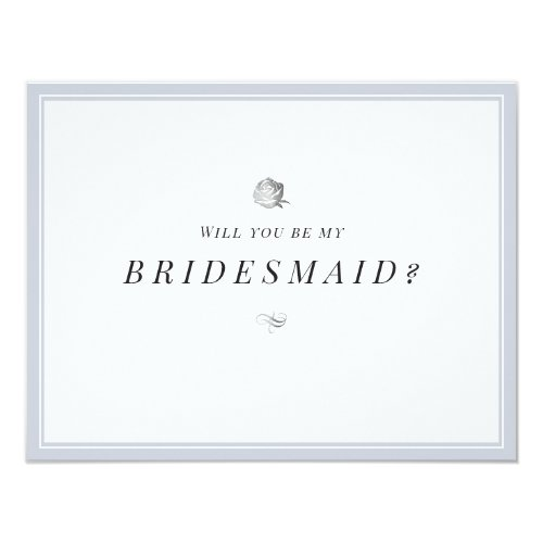 Will you be my bridesmaid floral minimalist invitation