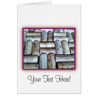 Wine Cork Tray Greeting Cards