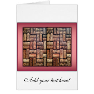Wine Corks Collage Card