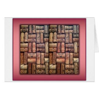 Wine Corks Collage Card