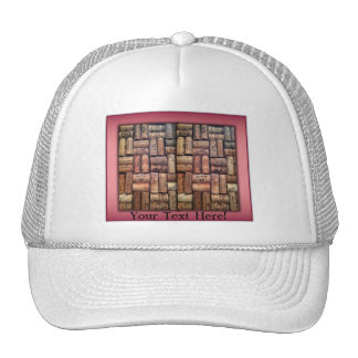 Wine Corks Collage Hat