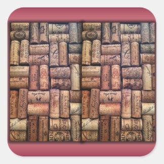 Wine Corks Collage Sticker