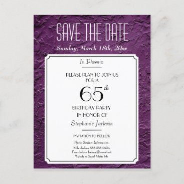 Wine Faux Textured Party or Reunion Save the Date Announcement Postcard