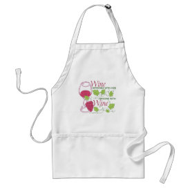 Wine Improves With Age Adult Apron