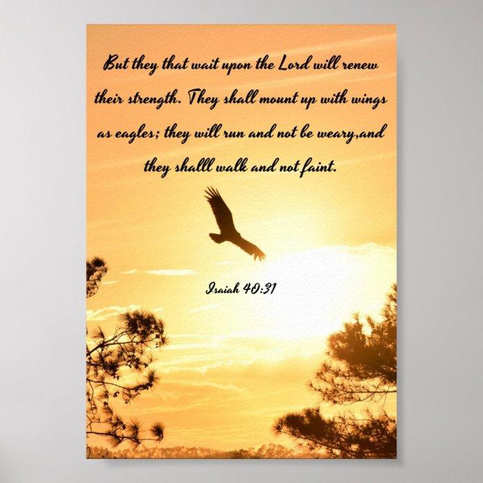Wings As Eagles - Isaiah Poster - Bible Verses