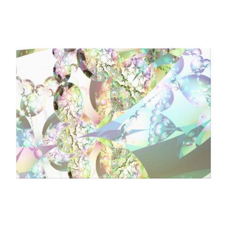 Wings of Angels – Celestite & Amethyst Crystals Canvas Print