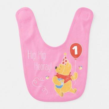 Winnie the Pooh | Baby Girl - First Birthday Baby Bib
