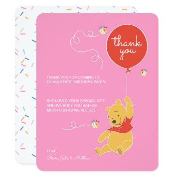 Winnie the Pooh | Baby Girl - Thank You Card