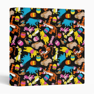 Winnie the Pooh | Bright Friends Pattern 3 Ring Binder