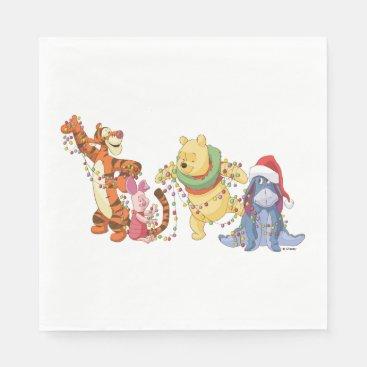 Winnie the Pooh | Christmas Lights Napkin