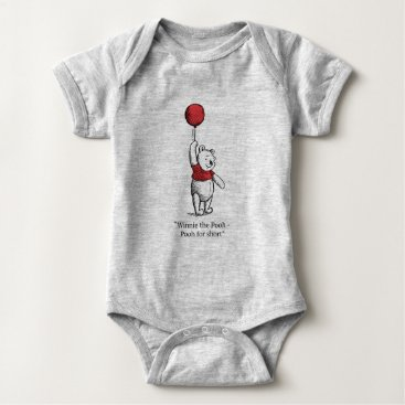Winnie the Pooh for Short Baby Bodysuit