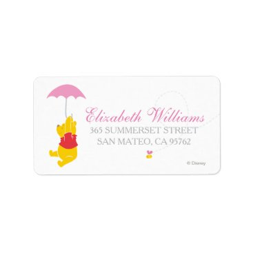 Winnie the Pooh | Girl Baby Shower Label